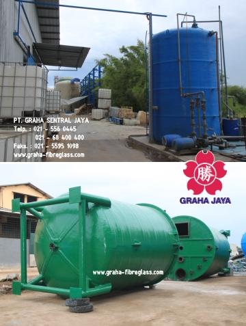 FRP Chemical Mixing Tank / Tangki Kimia Fiberglass