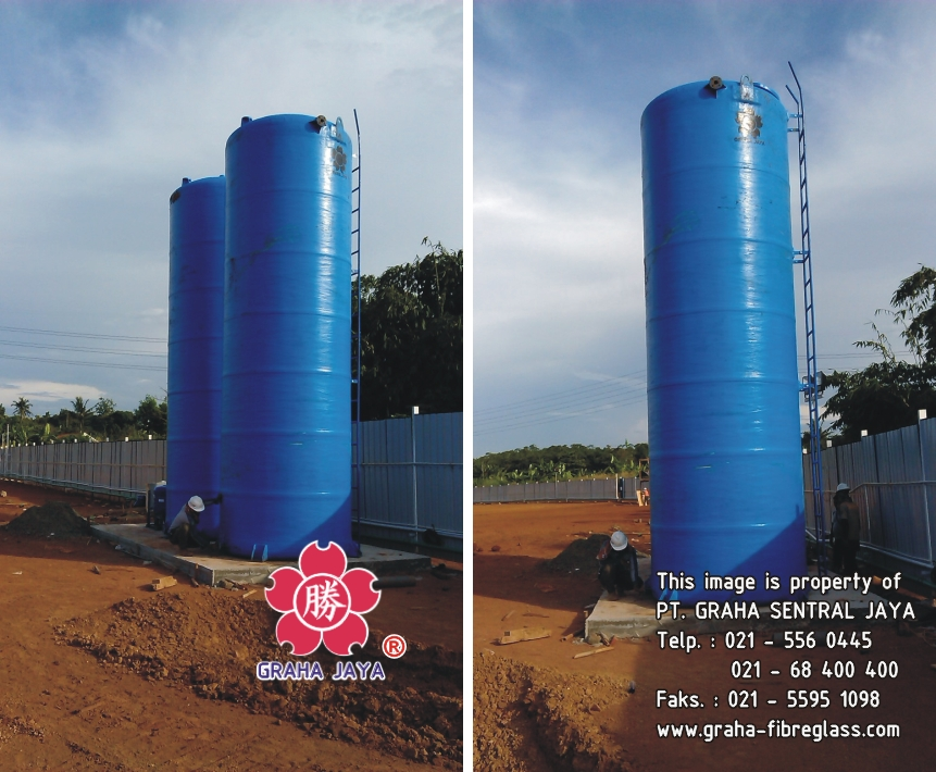 TANGKI AIR FIBERGLASS - FRP STORAGE WATER TANK